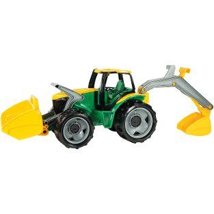 GIGA TRUCKS Traktor mit Frontlader/Baggerarm, grün