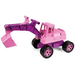 GIGA TRUCKS Aufsitz-Bagger, rosa