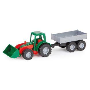 Mini Compact Traktor mit Hänger, Schaukarton