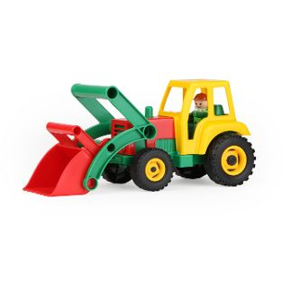 Aktive Traktor mit Frontschaufel, Schaukarton