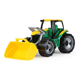 GIGA TRUCKS Traktor mit Lader, grün, Schaukarton