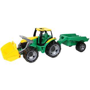 GIGA TRUCKS Traktor mit Schaufel und Anhänger, Schaukarton