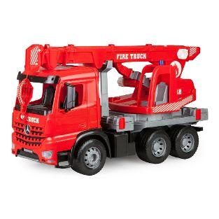 GIGA TRUCKS Feuerwehr-Kranwagen Arocs, Schaukarton