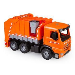 GIGA TRUCKS Müllwagen Arocs mit Aufkleber, Schaukarton