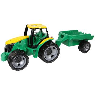 GIGA TRUCKS Traktor mit Anhänger, Schaukarton