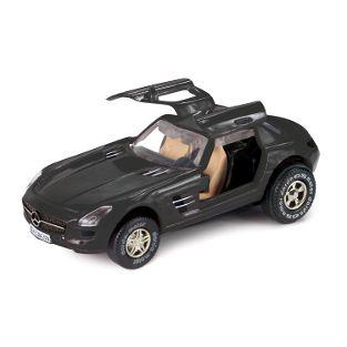 Mercedes-Benz SLS AMG, schwarz, Schaukarton