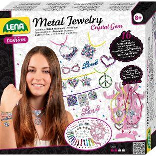 Metal Jewelry Crystal Gem, Faltschachtel