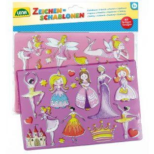 Zeichenschablone Prinzessinen + Elfen