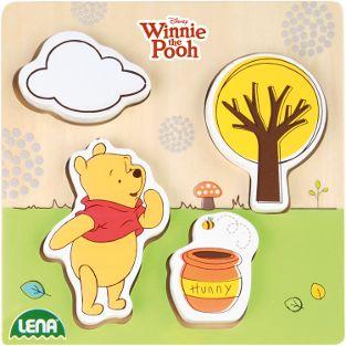 Holzlegespiel Disney Winnie the Pooh Puuh der Bär (FSC100%), Schaukart